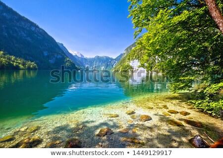 Alpine meer idyllisch kustlijn Stockfoto © xbrchx