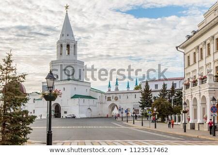 Kremlin moskee Rusland hemel zomer Stockfoto © borisb17