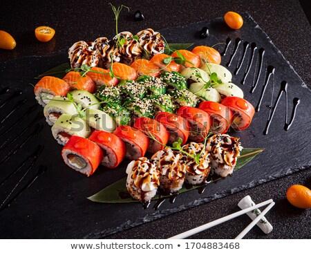 Japonais sushis sashimi maki Photo stock © karandaev