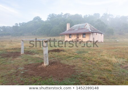 The hitching rail and old homestead in Snowy Mountains Australia Stock photo © lovleah
