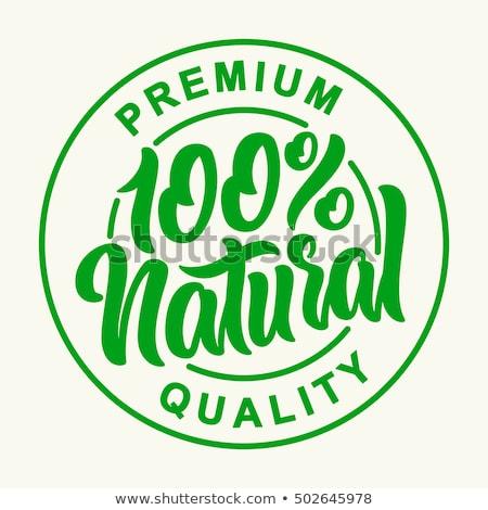Pur nature vert calligraphie logo jardin Photo stock © robuart