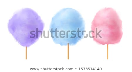 Candy floss cotton bilberry, cherry, plum candies Stock photo © robuart