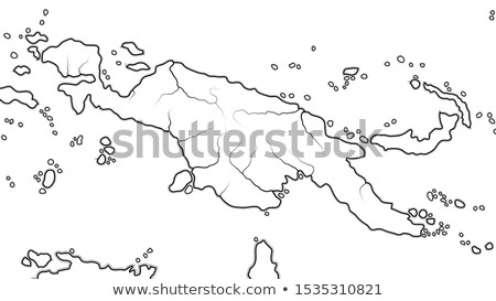 World Map of PAPUA NEW GUINEA: Australasia, Micronesia, Melanesia, Polynesia. Geographic chart. Stock photo © Glasaigh