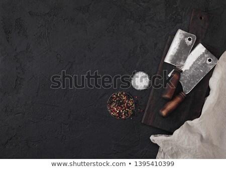 slager · vlees · mes · business · hand - stockfoto © denismart