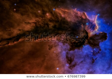 Eagle Nebula. Gas and dust rises from the stellar nursery. Stock photo © NASA_images