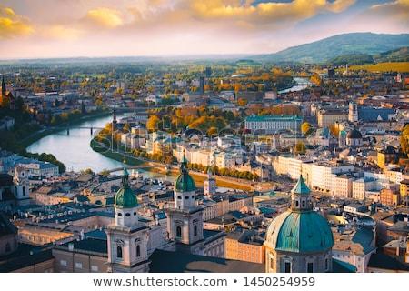Vienna Austria cityscape immagine Opera nubi Foto d'archivio © rudi1976