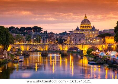 Tiber River embankment, Rome Stock photo © borisb17