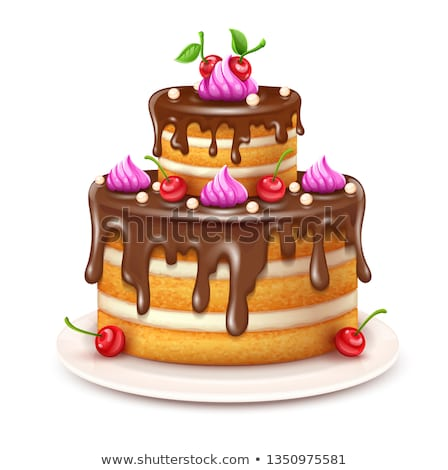 торты Ягоды Sweet хлебобулочные пластина вектора Сток-фото © robuart