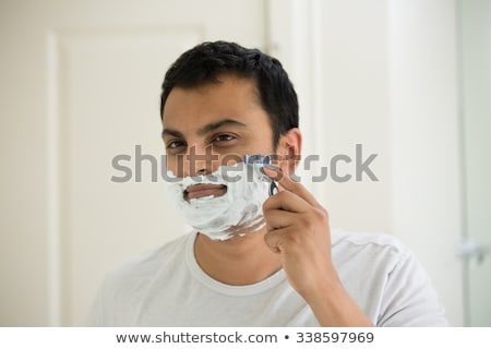 Indian man baard scheermes mes mensen Stockfoto © dolgachov
