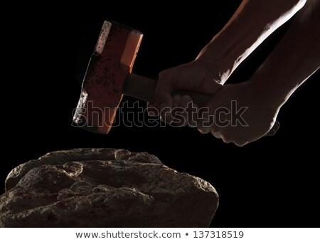 Fighting hands breaking rock Stock photo © ra2studio