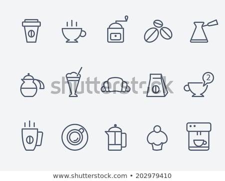 Kawy czajnik hot jawa pić wektora Zdjęcia stock © robuart