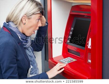 bank · csalás · piros · pecsét · fehér · pénz - stock fotó © andreypopov