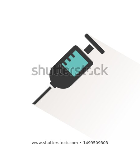 syringe color icon with beige shade pharmacy and medicine vector illustration stock photo © imaagio