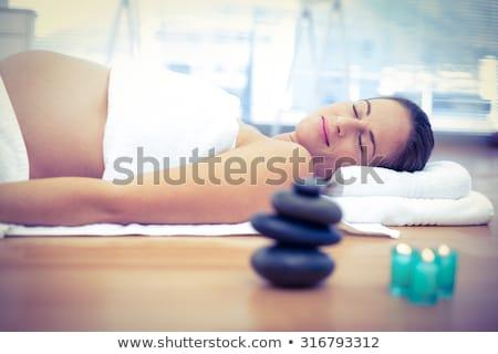 беременная женщина массаж женщины терапевт человека Сток-фото © AndreyPopov