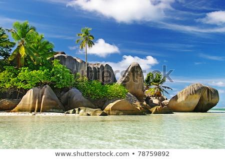 Тропический остров синий морем пейзаж красивой воды Сток-фото © vapi