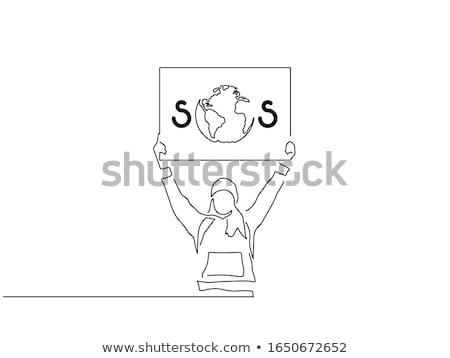 小さな 学生 気候変動 図面 漫画 スタイル ストックフォト © patrimonio