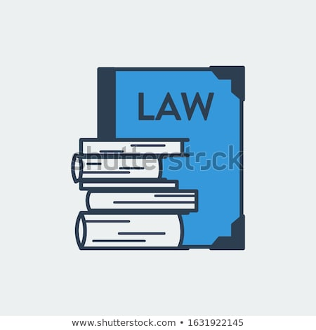 Constitution Book Law And Judgement Icon Vector Illustration Stock photo © pikepicture