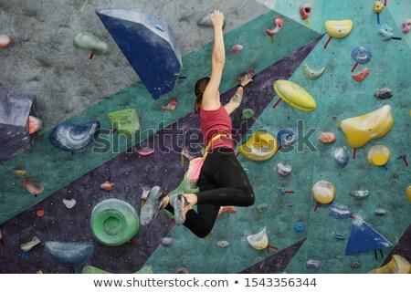 小さな アクティブ 女性 スポーツウェア 絞首刑 天井 ストックフォト © pressmaster