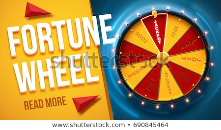 Fortune Wheel with Numbers Pointer Money Casino Stock photo © robuart