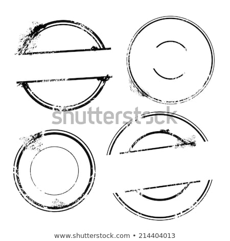 Set of stamps with numbers, vector illustration. Stock photo © kup1984