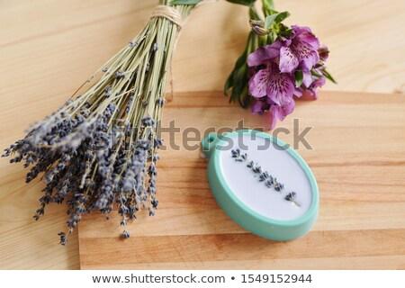 Taze lavanta mor silikon sıvı Stok fotoğraf © pressmaster