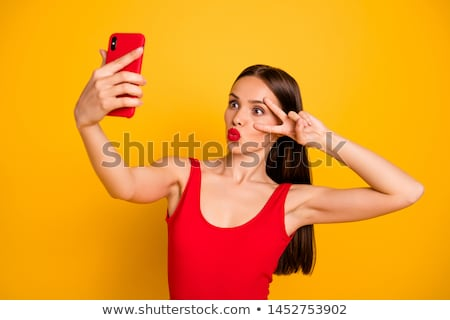 Beautiful woman kissing you Stock photo © nomadsoul1