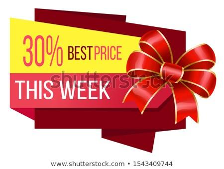 30 cento miglior prezzo settimana promozione banner Foto d'archivio © robuart