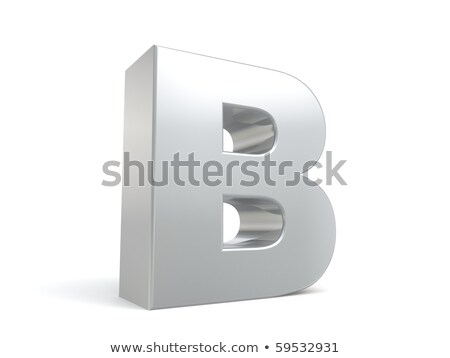 Brushed metal font Letter B 3D Stock photo © djmilic