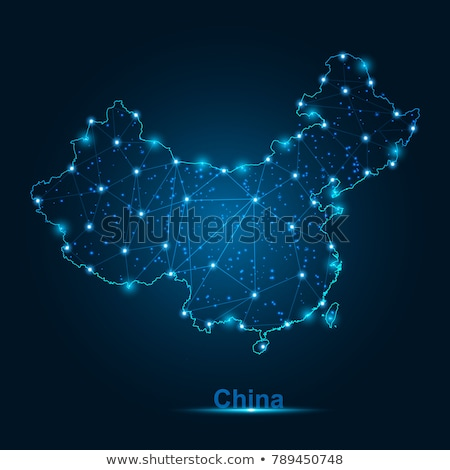 Mapa China branco isolado ilustração 3d médico Foto stock © ISerg