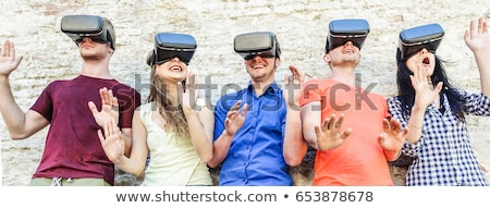 Nieuwe virtueel realiteit mensen internet bril Stockfoto © robuart