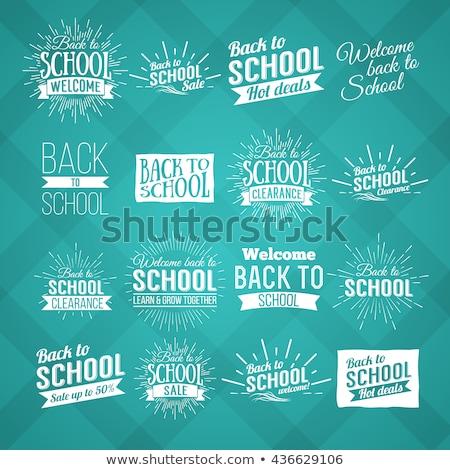 Terug naar school verkoop ontwerp typografie brief krijt Stockfoto © articular