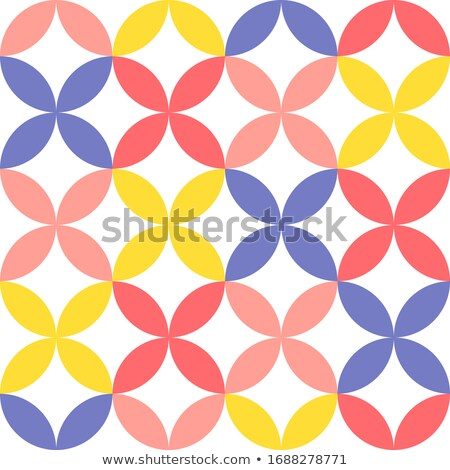 Vector seamless pattern in simple flat geometric style of abstract floral card with cute flowers and Stock photo © ussr