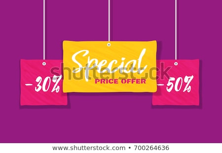 Hot Price Lowering of Price Promotional Banner Stock photo © robuart