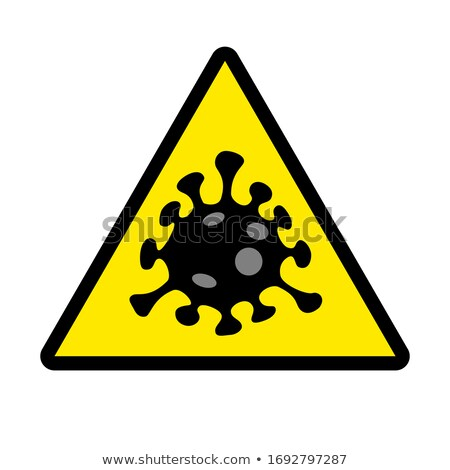 Yellow virus hazard sign with SARS-CoV-2 text Stock photo © alessandro0770