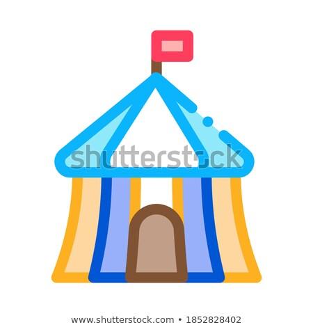 Circus buiten icon vector schets Stockfoto © pikepicture
