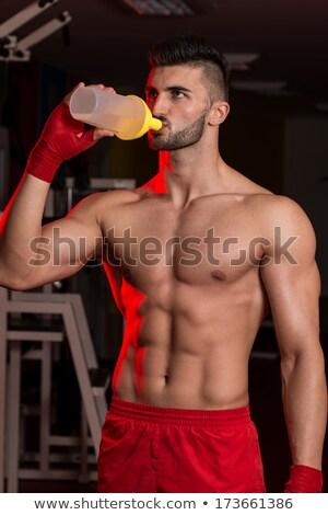 Luchador proteína agua retrato masculina Foto stock © Jasminko