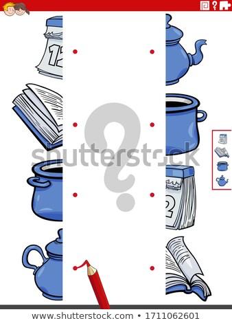 Match immagini oggetti educativo compito cartoon Foto d'archivio © izakowski