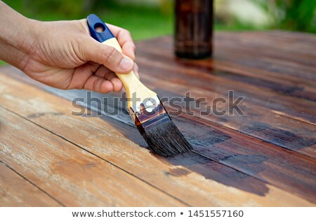 Carpenter painting wooden Stock photo © olira