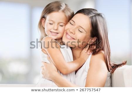 Anya lánygyermek szeretet viszony anyák nap Stock fotó © SArts