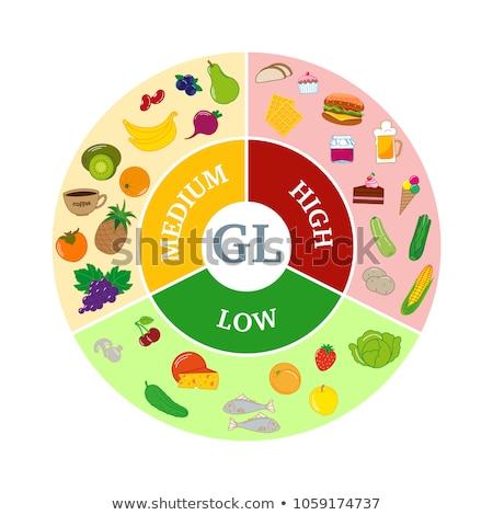 Alacsony egészség étel magas vitaminok ásványok Stock fotó © marilyna