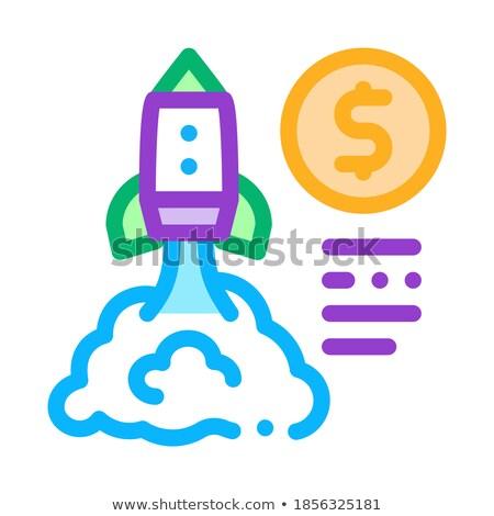 Para kuyrukluyıldız uçuş ikon vektör Stok fotoğraf © pikepicture