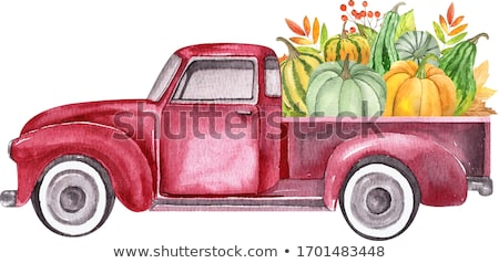 Farm Truck, Harvest Transporting, Isolated Vehicle Stock photo © robuart
