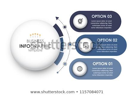 Trois étapes circulaire modèle design Photo stock © SArts