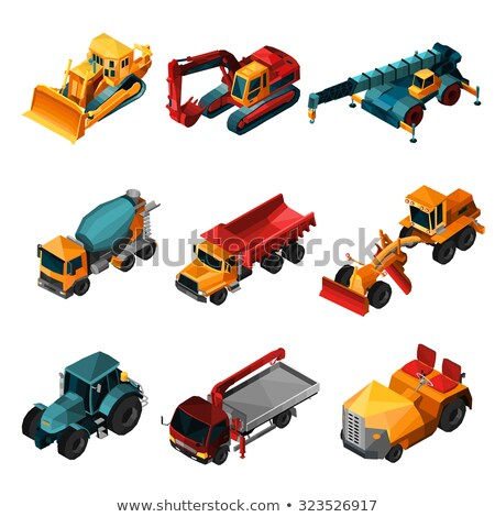 Caterpillar Tractor Vehicle isometric icon vector illustration Stock photo © pikepicture