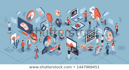 Artificial Intelligence Ai Chip isometric icon vector illustration Stock photo © pikepicture