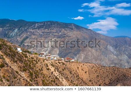 antigo · tibete · famoso · ponto · de · referência · edifício · parede - foto stock © bbbar