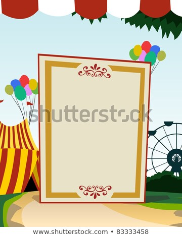 Carnival theme vertical blank board stock photo © DamonAce