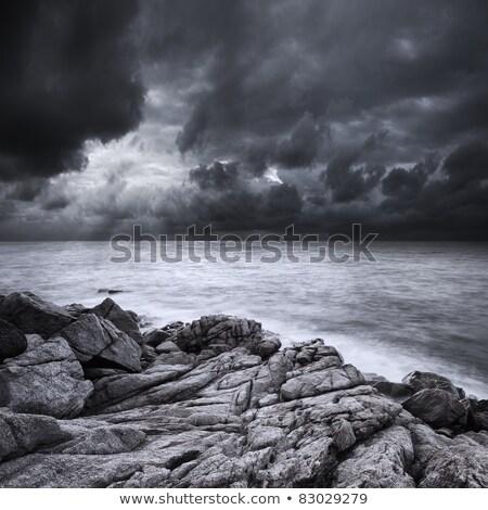 Fırtına uzun pozlama atış gökyüzü doğa dalga Stok fotoğraf © moses