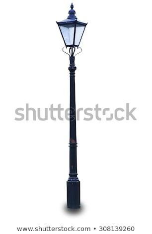lámpa · posta · London · folyó · Temze · üveg - stock fotó © Harveysart