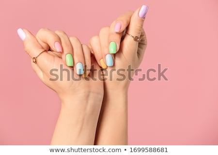 Beautiful fingernails Stock photo © AndreyPopov